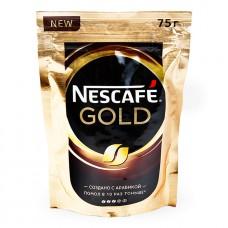 Кофе NESCAFE Gold растворимый сдобавл.натур. 75г. экон.