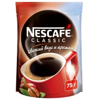 Кофе NESCAFE classic растворимый гранулированный 75г.